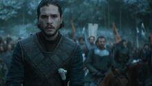 Jon prepares for battle s6