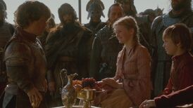 Tyrion greets Myrcella and Tommen The North Remembers
