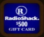 Radioshack Gift Card ($500)