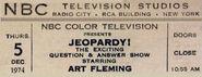 Jeopardy ticket 2