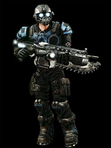Archivo:Gears of War Carmine by Crotale.jpg