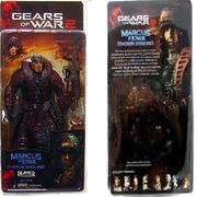 Marcus Fenix (Theron Disguise) (Action Figure) Series Four in box (Front and back).