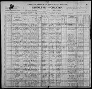Census of Florence Township Benton County Iowa 1900 pg02