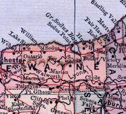 Wayne County, NY 1885 map
