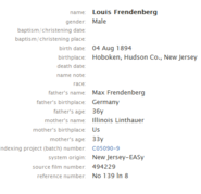 Freudenberg-Louis 1894 birth