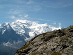 Mont Blanc and Dome du Gouter