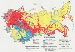 USSR Ethnic Groups 1974