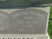Christina Slagel Goodman (1833-1917) Salem Twp Cem Burnips MI