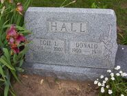 Donald and Egie Hall (Hillside Cemetery Plainwell)