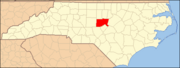 North Carolina Map Highlighting Chatham County.PNG