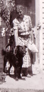 Aunt Bertha Griffin and her dog Bruno. Taken at her place in Westbrookville, New York, August 1941