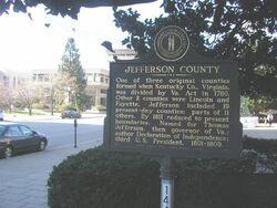 Jefferson county marker