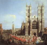 Westminster Abbey by Canaletto, 1749
