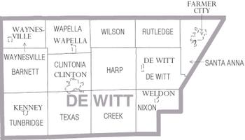 Map of DeWitt County Illinois