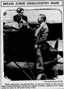 Eddie August Schneider in The Evening Independent of St. Petersburg, Florida on August 19, 1930