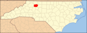 North Carolina Map Highlighting Yadkin County.PNG