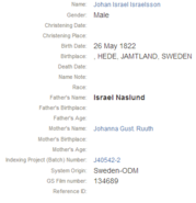 Naslund-Johan 1822 birth