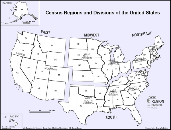 Census Regions and Divisions