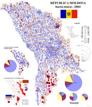 Harta etnica a Rep Moldova - 2004