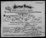 Wintrone Olson 1913 marriage