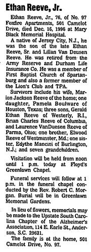 Reeve-Ethan 1996 obituary