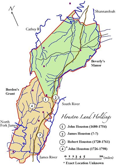 Houston Land Holdings (c1740-1750)