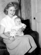 Anna Olsen holding Allen Zipp II