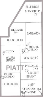Map of Piatt County Illinois
