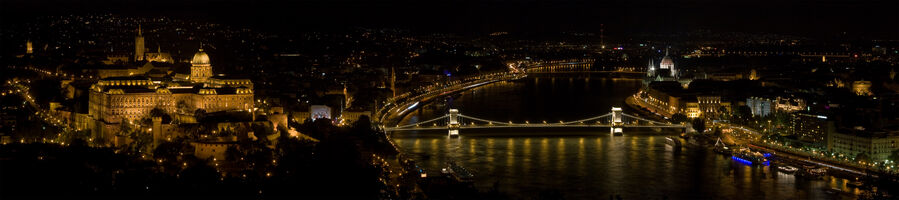 Panorama of Budapest at night