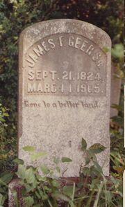 Gravestone - James F. Geer Sr.