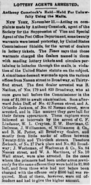 Lottery Agents Arrested reported in The Times of Philadelphia, Pennsylvania on November 12, 1879