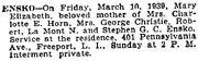 Bleakeley-Mary 1939 funeral