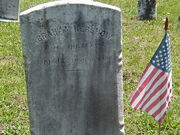 Kershow-Abraham 1883 tombstone