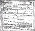 Death Certificate Augusta Olson