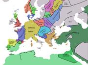 Europe map 1092