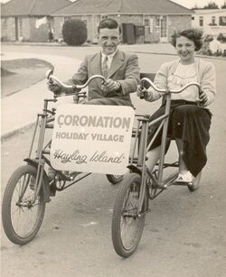 Ernest Russ and Grace Baglin on holiday 1950