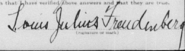 Freudenberg-LouisJulius 1918 signature