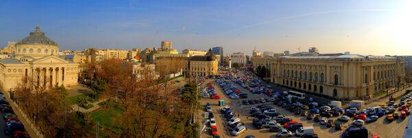Panoramic view of Bucharest