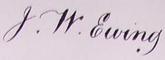 John William Ewing Signature