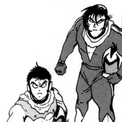 Hayato, Ryoma and Benki in Shin Getter Robo