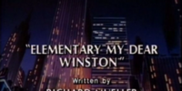 Elementary My Dear Winston
