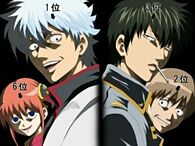 Kagura, Gintoki, Hijikata and Sougo Episode 183