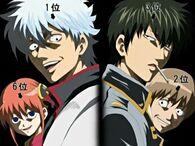 Kagura, Gintoki, Hijikata and Sougo Episode 183
