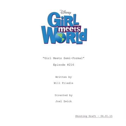 girl meets belief script Girl meets world (2014) episode scripts - springfield springfield tv show episode scripts ss is dedicated to the simpsons and host to thousands of free tv show episode scripts and screencaps, cartoon framegrabs and movie scripts.