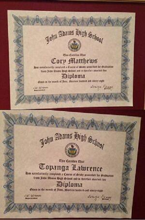Cory'& Topanga's High School Diplomas
