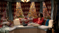 Riley gazing out the Mount Sun Lodge Bay Window (Daytime - 3x08)