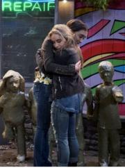 Riley & Maya Hugging - (3x7)