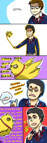 File:Klaine taking pav for a walk by randomsplashes-d3axud7.png
