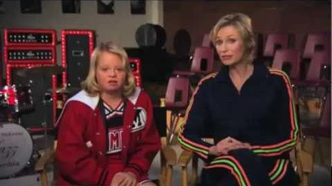 """NOT Acceptable"" - ""R-Word"" PSA , starring Glee's Jane Lynch & Lauren Potter (UltimateGleeks)"