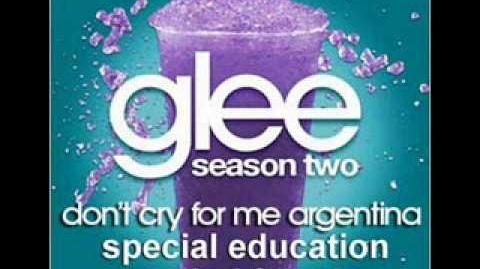 Don't Cry for Me Argentina - Glee, Rachel & Kurt Duet Complete!